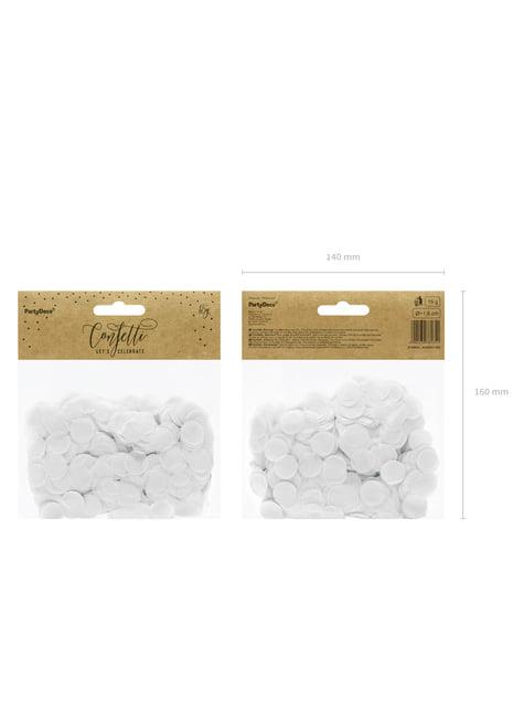 Confeti redondo blanco de papel para mesa - comprar