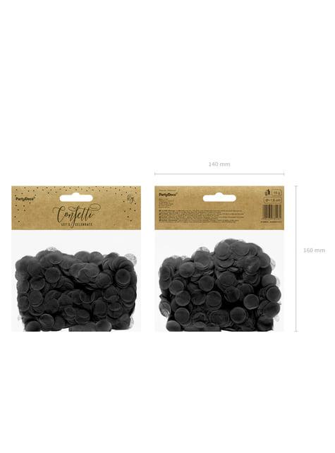 Circle Paper Table Confetti, Black