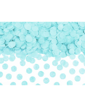 Circle Paper Table Confetti, Pastel Blue