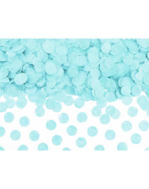Confeti redondo azul pastel de papel para mesa