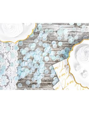 Sirkel Papir Bordkonfetti, Pastellblå