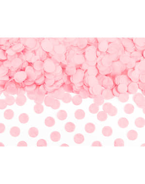 Sirkel Papir Bordkonfetti, Pastellrosa