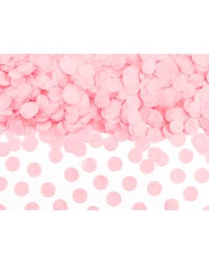 Ympyränmuotoinen paperinen pöytäkonfeti, pastellinpinkki