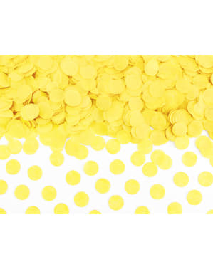 Circle Paper Table Confetti, Yellow