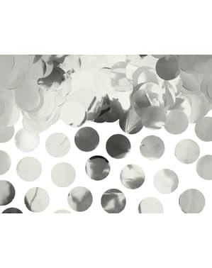 Kulaté stolní konfety stříbrné - New Year & Carnival