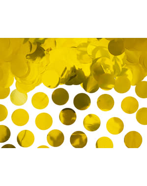 Confetti rotund auriu pentru masă - New Year & Carnival
