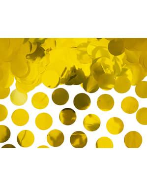 Złote konfetti na stół kółka - New Year & Carnival