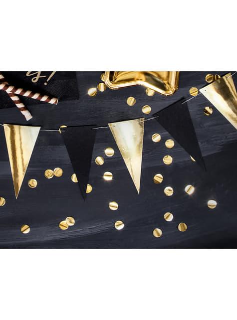 Confeti redondo dorado para mesa - New Year & Carnival - para niños y adultos