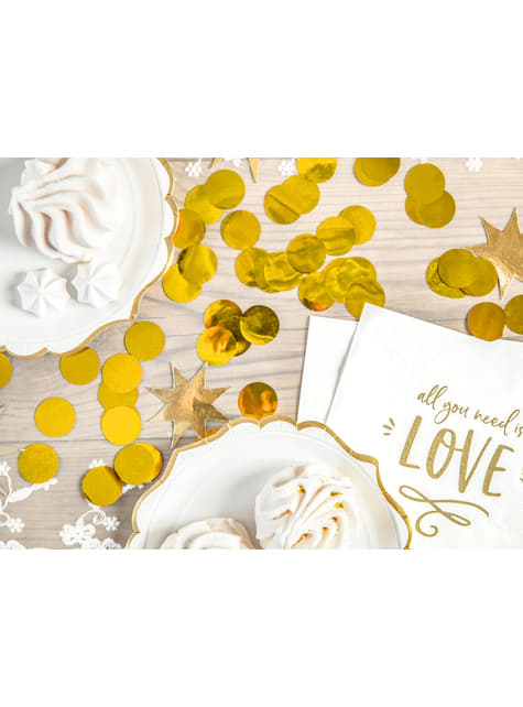 Confeti redondo dorado para mesa - New Year & Carnival - original