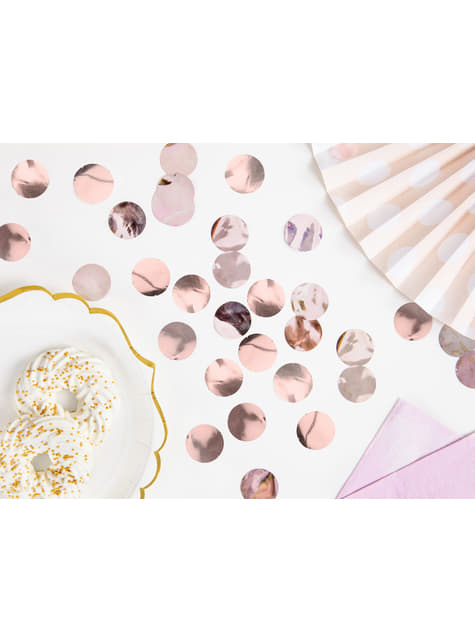 Confeti redondo oro rosa para mesa - New Year & Carnival - para tus fiestas
