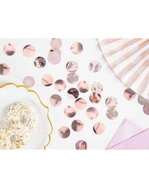 Kulaté stolní konfety růžovozlaté - New Year & Carnival