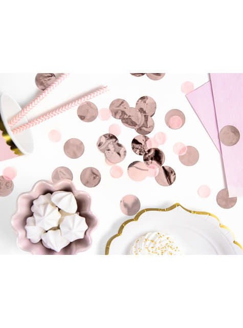 Circle Table Confetti, Rose Gold - New Year & Carnival