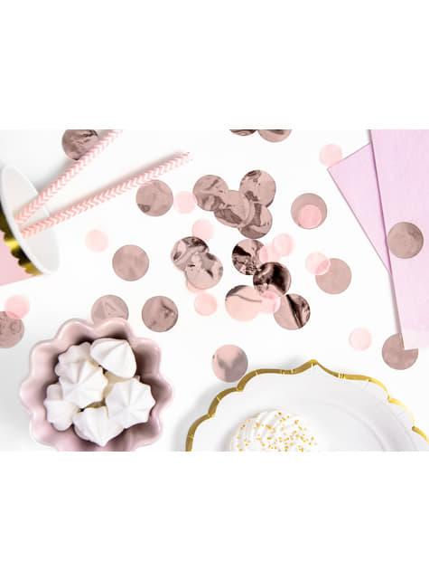 Confeti redondo oro rosa para mesa - New Year & Carnival - comprar