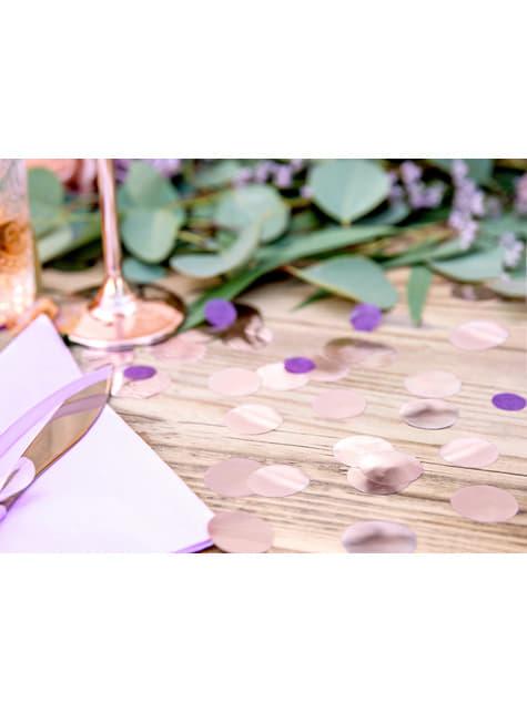 Confeti redondo oro rosa para mesa - New Year & Carnival - para niños y adultos