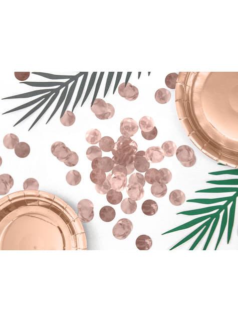 Confeti redondo oro rosa para mesa - New Year & Carnival - para decorar todo durante tu fiesta