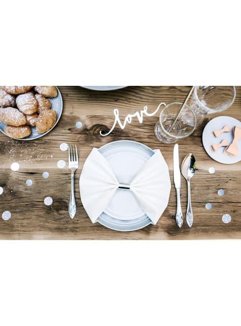Confeti redondo variado gris metálico y purpurina para mesa - Elegant Bliss Collection - para tus fiestas