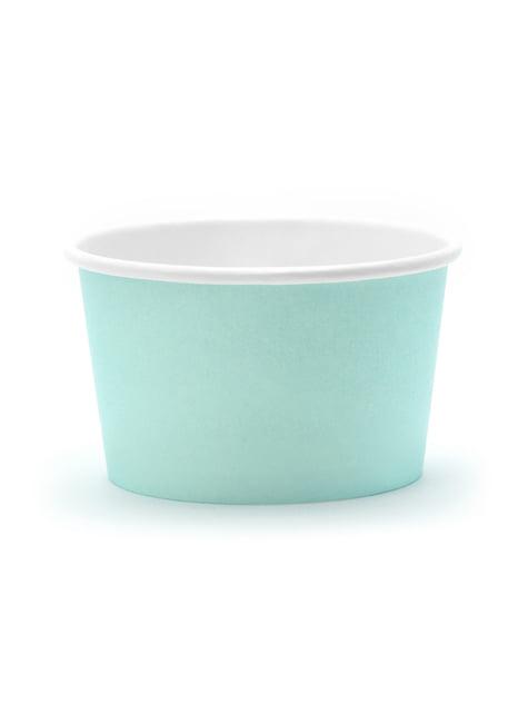 6 vasos azul turquesa para helado - Aloha Turquoise