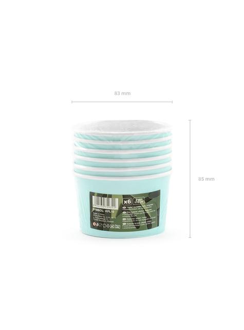 6 vasos azul turquesa para helado - Aloha Turquoise - celebra cualquier ocasión