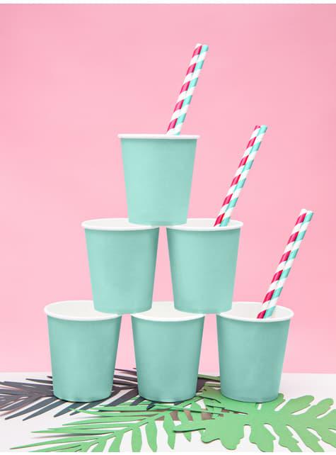 6 vasos azul turquesa - Aloha Turquoise - barato