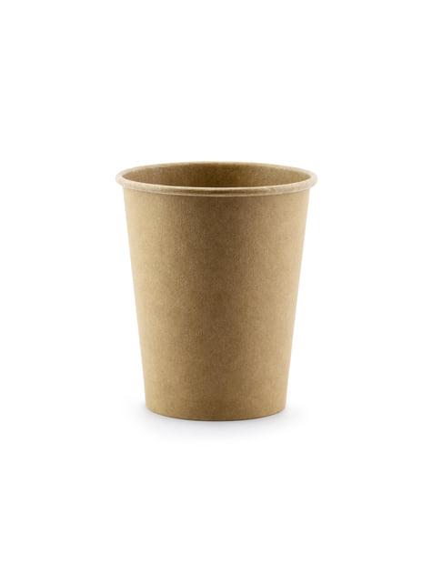 6 vasos de papel Kraft