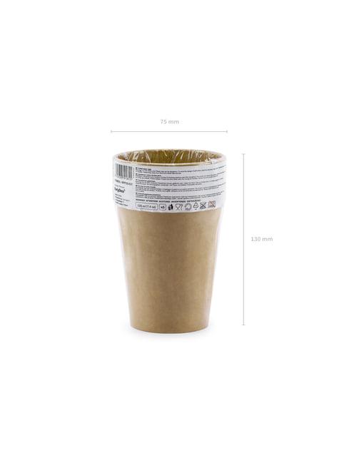 6 vasos de papel Kraft - comprar