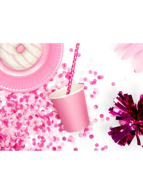 6 vasos rosas de papel - Sweets Collection - para tus fiestas