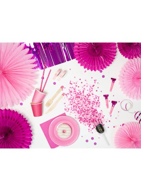 6 vasos rosas de papel - Sweets Collection - barato