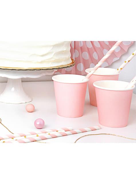 6 vasos rosas de papel - Sweets Collection - original