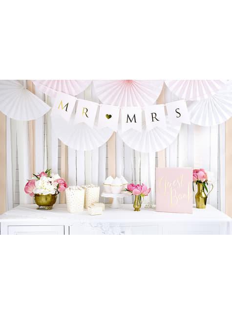 4 rollos de papel crepe blanco para cortina (10 m) - para tus fiestas