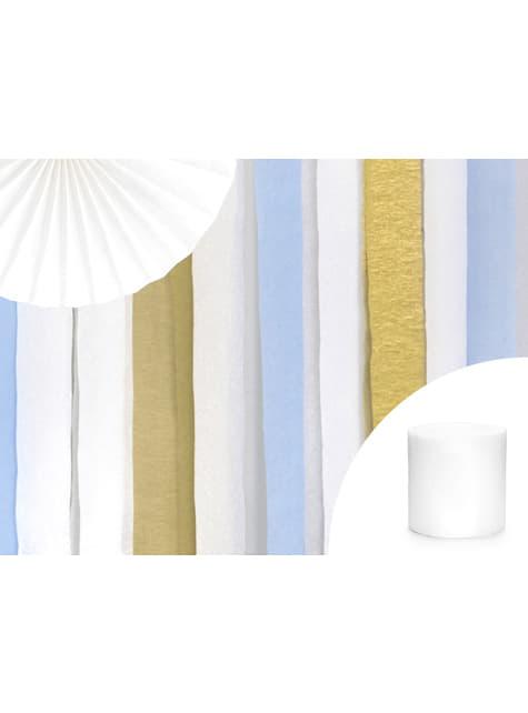 4 rollos de papel crepe blanco para cortina (10 m) - comprar