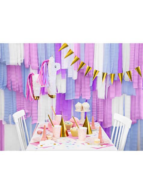 4 rollos de papel crepe blanco para cortina (10 m) - el más divertido
