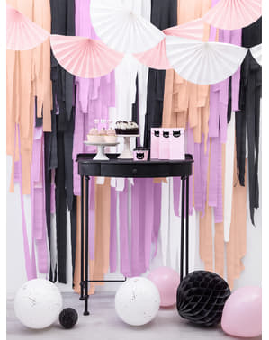 4 rouleaux de papier crépon noir de 10 m pour rideau