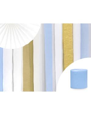 4 rollos de papel crepe azul pastel para cortina (10 m)