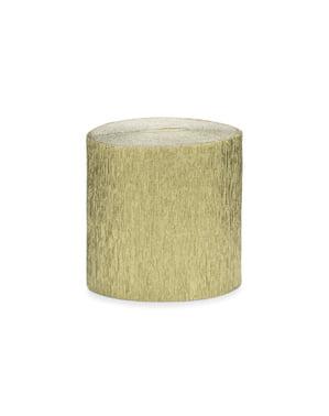 4 rollos de papel crepe dorado para cortina (10 m)