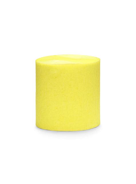 4 rollos de papel crepe amarillo para cortina (10 m)