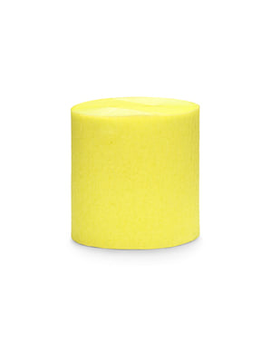 4 Yellow Crepe Paper Streamers, 10m (10 m)