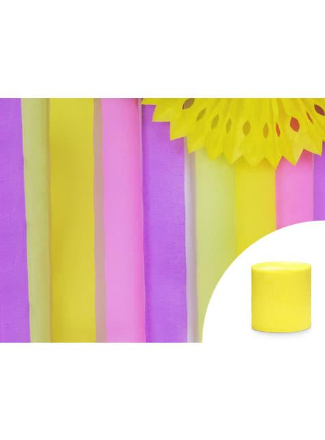 4 rollos de papel crepe amarillo para cortina (10 m) - barato