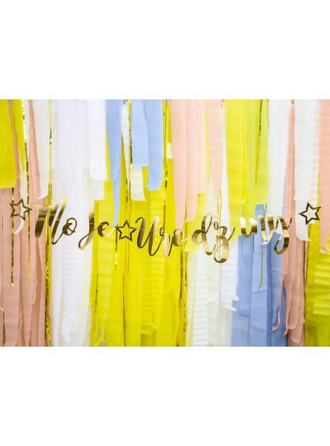 4 rollos de papel crepe amarillo para cortina (10 m) - para niños y adultos