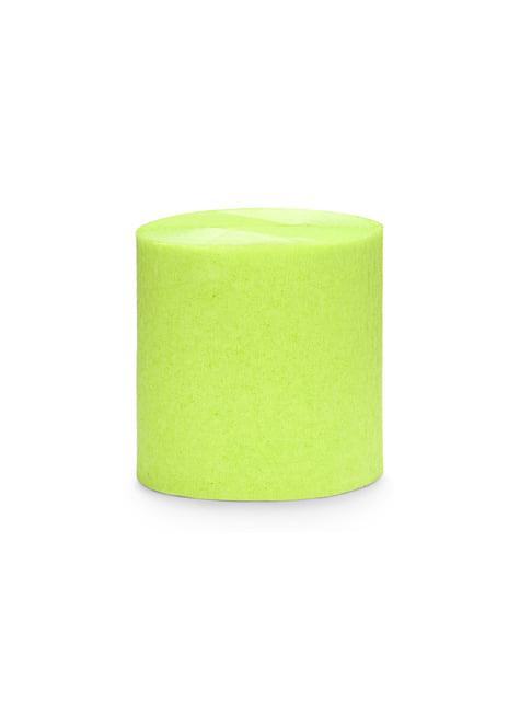 4 rollos de papel crepe verde claro para cortina (10 m)