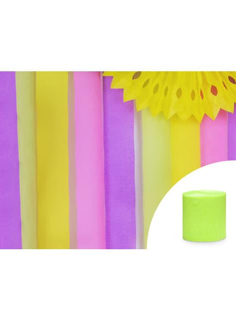 4 rollos de papel crepe verde claro para cortina (10 m) - para tus fiestas