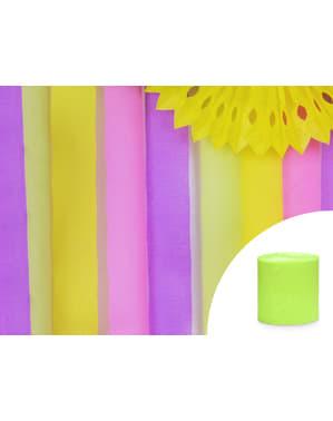 4 Light Green Crepe Paper Streamers, 10m (10 m)