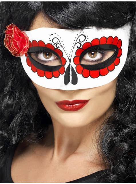 Maska Meksykańska La Catrina Dzień Zmarłych dla kobiet