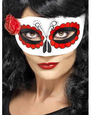 Mexican La Catrina Day of the Dead Mask for Women