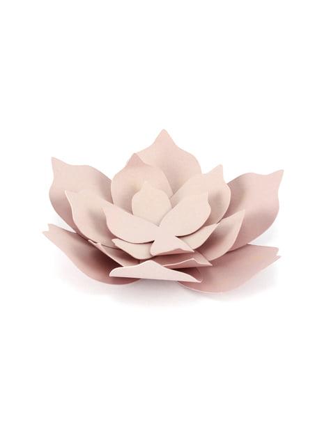 3 flores rosa pastel de papel para mesa - Rustic Collection