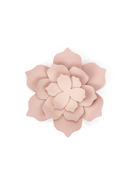 3 fleurs rose pastel pour la table en papier - Rustic Collection