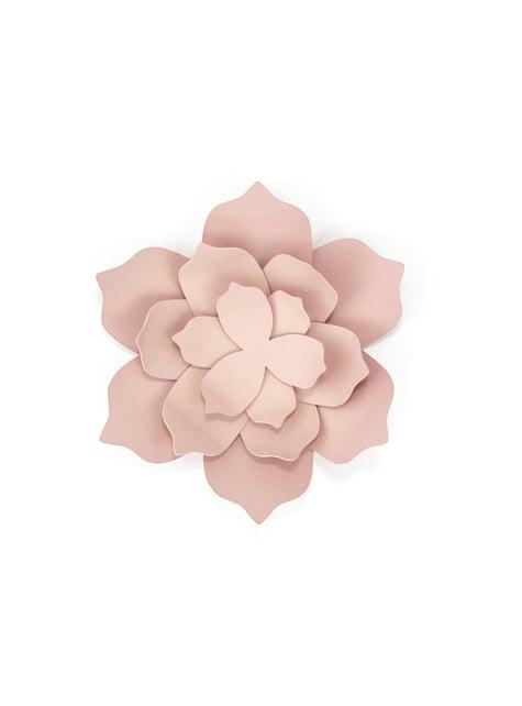 3 flores rosa pastel de papel para mesa - Rustic Collection - para tus fiestas