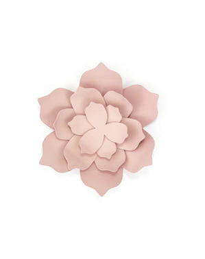 3 Paper Flower Table Decorations, Pastel Pink - Rustic Collection