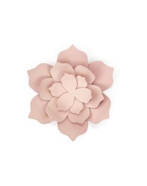 Zestaw 3 dekoracja stołu papierowe kwiaty pastelowy róż - Rustic Collection