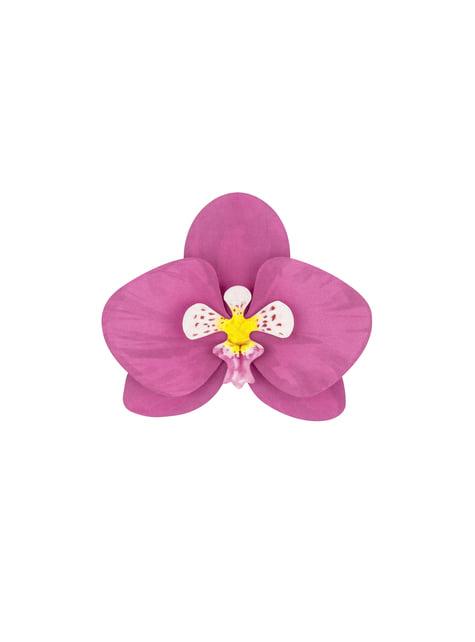 6 orquídeas blancas y moradas para mesa - Aloha Turquoise - para tus fiestas