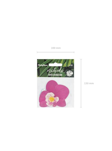 6 orquídeas blancas y moradas para mesa - Aloha Turquoise - original